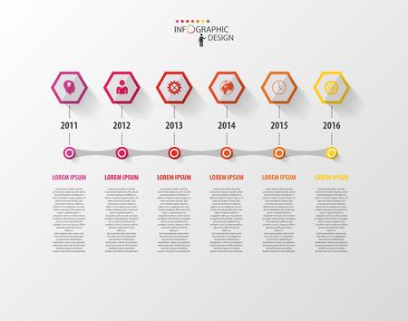 Infographics vector design template. Timeline concept Illustration