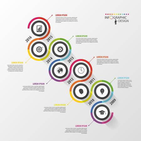 Résumé calendrier de modèle infographique. Vector illustration. Banque d'images - 45344202