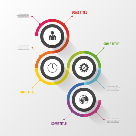 Colorful abstract infographic template. Design elements. Vector
