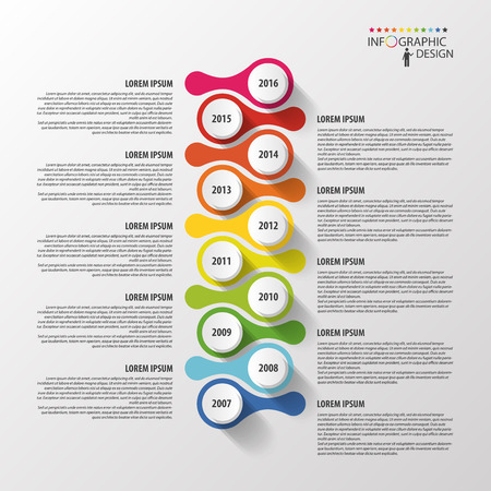 Timeline infographics design template. Vector