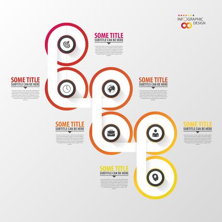 Résumé calendrier de modèle infographique. Vector illustration. Banque d'images - 45344366