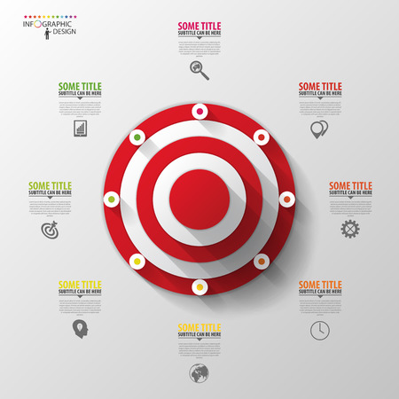 marketing target: Business target marketing concept. Infographics template. Vector