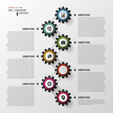 Abstract timeline infographic template. Vector illustration. Imagens - 45344365