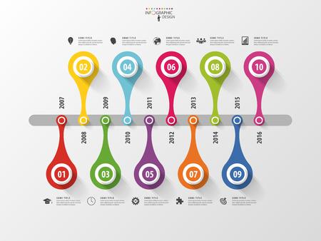 Résumé calendrier de modèle infographique. Vector illustration. Banque d'images - 45344505
