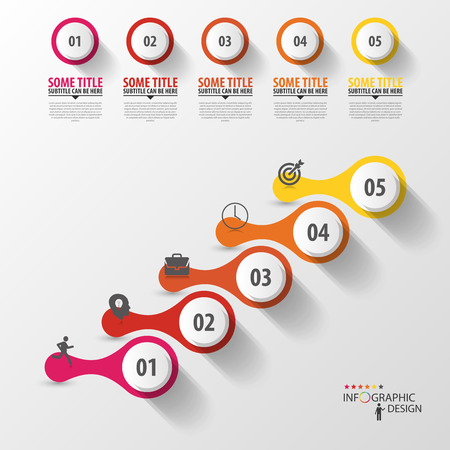 conection: Plantilla infograf�a moderna. Concepto de l�nea de tiempo. Vector