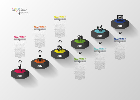 Infographics business stair step success. Vector template Imagens - 45344640