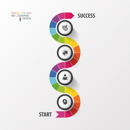 Abstract timeline infographic template. Vector illustration. Imagens - 45344654
