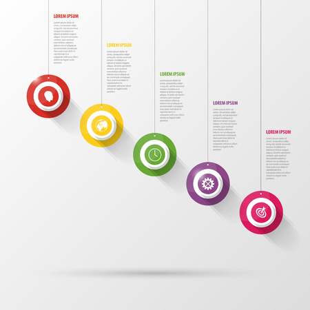 Infographic with circles on the grey background Illustration