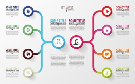 Modern infographics. Business plan design template. Vector Vettoriali