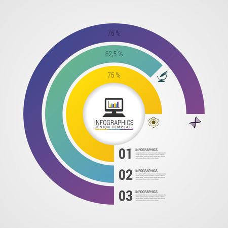 pie chart: Pie Chart Circle Graph. Modern Infographics Design Template. Vector