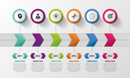 timeline: Modern Timeline Infographic. Abstract Design Template. Vector Illustration. Illustration