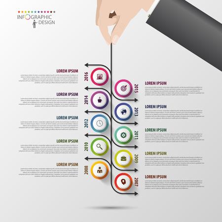 infograph: Modern timeline infographics design template. Vector