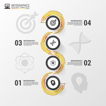 Chemin d'affaires abstrait coloré. Modèle infographique Timeline. Vecteur Banque d'images - 45345004
