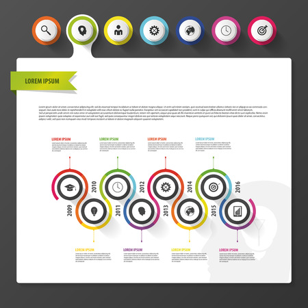 dashboard: infographic dashboard template. Modern design template. Vector Illustration