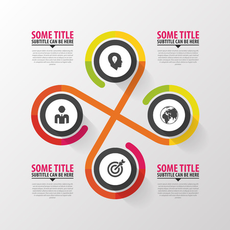 connect people: Infographic design on the grey background. Modern template. Vector