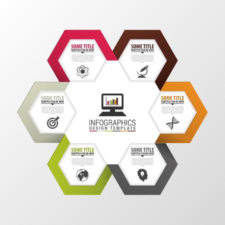 technology banner: Abstract 3D digital illustration Infographic. Vector illustration