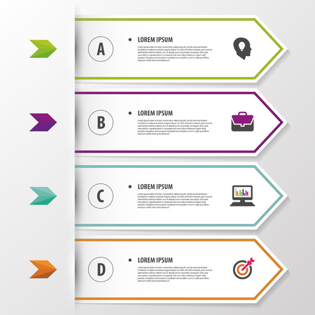 Modern infographic banner. Origami style template. Vector Иллюстрация