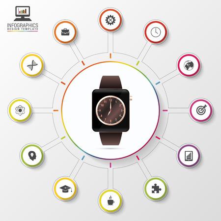 Modern Work Time Management Planning. Modern Infographic Template ...
