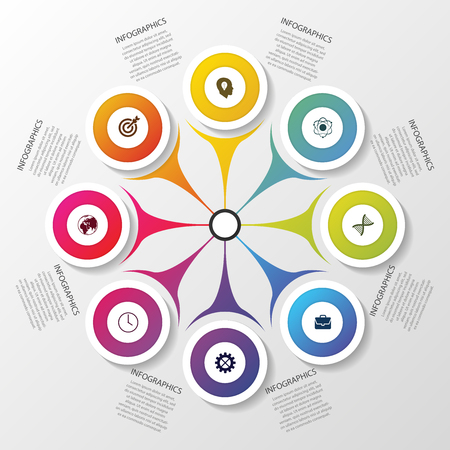 colourful business: Infographic circle. Modern design template. Vector illustration