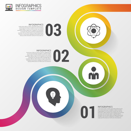 Abstract colorful business path. Timeline infographic template. Vector illustration Imagens - 48325683