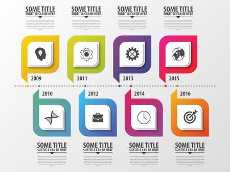 Timeline Infografica. Modello di design moderno. Illustrazione vettoriale Archivio Fotografico - 48421602