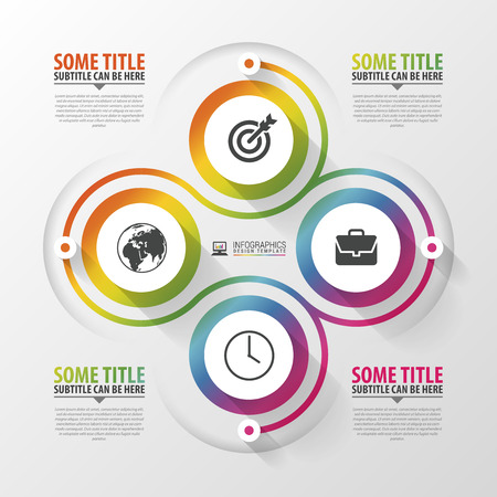 consecutive: Spiral with diagram infographics element. Modern design template. Vector illustration. Illustration