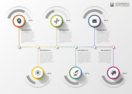 decade: Modern Timeline Infographics. Colorful design template. Vector illustration.