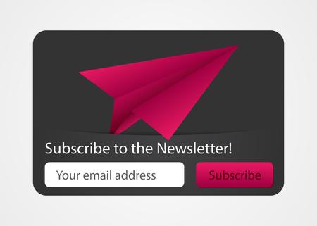 Newsletter subscribe form for web. Modern design. Vector illustration.