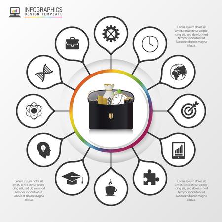 show case: Infographic design template. Modern business concept. Vector illustration.