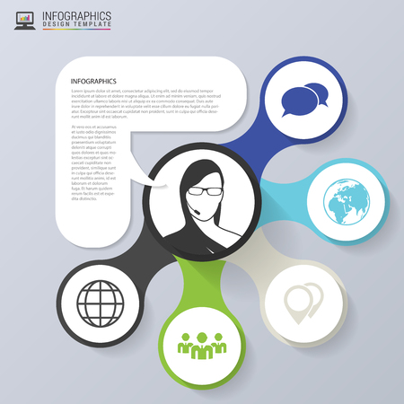 data centers: Infographics concept. Sale promotion template. modern style. Vector illustration. Illustration