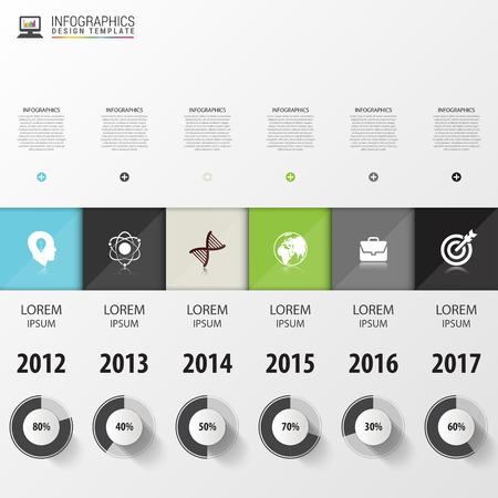 timeline: Timeline Infographic. Modern design template. Vector illustration. Illustration