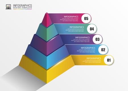 onwards: Pyramid. Infographic concept. Modern design template. Vector illustration Illustration