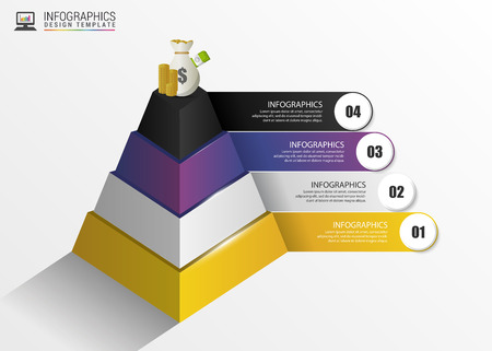 onwards: Pyramid. Infographic concept. Modern design template. Vector illustration.
