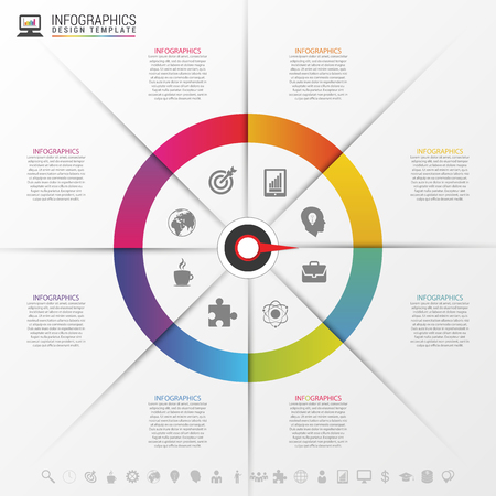 Infographics step by step with pointer. Business concept. Vector illustration.