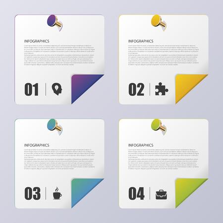 paper folding: Folding Paper. Modern infographic template. Vector illustration Illustration