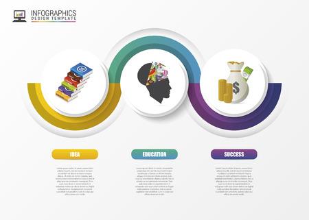 business education: Infographic concept. Modern design template. Vector illustration Illustration