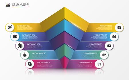 onwards: Pyramid. Infographic concept. Modern design template. illustration