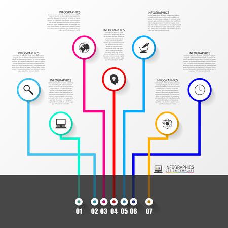timeline: Business tree timeline infographics. Illustration