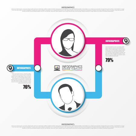multilevel: Organization chart. infographics design template. Vector illustration