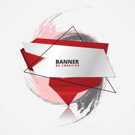 origami banner: Creative infographic origami banner. Vector illustration