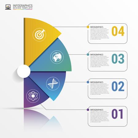 Infographic modèle de rapport avec les lignes. Vector illustration Banque d'images - 59955510