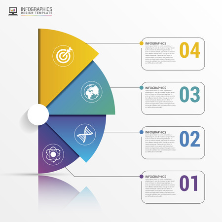 Infographic report template with lines. Vector illustration Çizim
