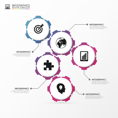 mechaninc: Infographic design template with gears. Business concept.