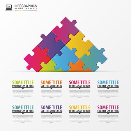 piece: Puzzle piece infographics business concept.