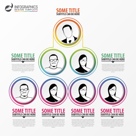 Organization chart infographics design. Infographics. Vector illustration