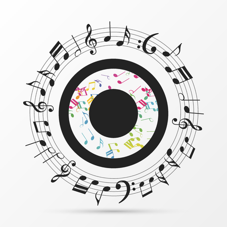 musical notes in the shape of a eye. Vector illustration