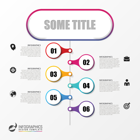 Infographics design template. Timeline concept with icons. Vector illustration