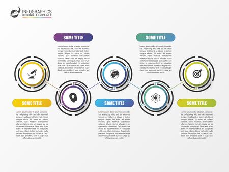 Timeline infographics template. Kleurrijk modern design. vector illustratie Stock Illustratie