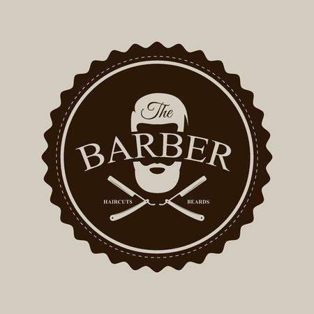 Símbolo de peluquería Icono de diseño moderno. Ilustración vectorial