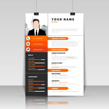 Personal resume template.